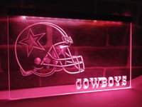 LD317b- Dallas Cowboys Helmet NR Bar LED Neon Light Sign
