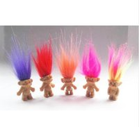 Wholesale Baby Family Gifts - 1000pcs Hair Troll Family Members Daddy Mummy Baby Boys Girls Dam Anime Trolls Kids Toys for Children Birthday Gift