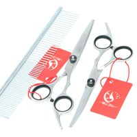 Wholesale Cheap Grooming Tables - 6.0Inch Meisha Cheap Hot Professional Pet Grooming Scissors Set for Dogs Pet Scissors Cutting& Thinning & Curved Dog Shears JP440C,HB0022