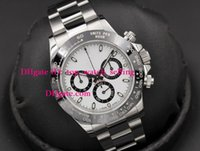 Wholesale Swiss Automatic Movement Chronograph - Luxury Automatic Chronograph Watch Top quality 116500 CERAMIC White Dial 40mm Eta 7750 Watches Automatic Chronograph Swiss Movement