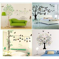 Wholesale Large Green Tree Wall Stickers - Extra Large! 250*180cm Photo frame tree Family Picture DIY Removable Art Vinyl Wall Stickers Decor Mural Decal Living Room