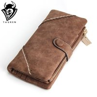 Wholesale Photo Ms - Wholesale- 2017 New Women Wallets Coin Case Purse For Phone Card Wallet Leather Purse Ms Frosted Long Purse Vintage Buckles Lace Wallet