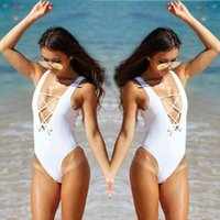 Cut Out String One Piece Swimsuits Women Triangle Backless Swimwear Летний бразильский купальный костюм Bodysuit Black White Red XL
