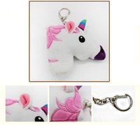 Wholesale Cellphone Plush - Unicorn Keychain Pendant Plush Keyring Bagpack Bags Handbag Cellphone Charms Key Chain Cute Gift for kids