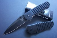 Wholesale B12 Drops - Drop shipping Benchmade B12 survival folding knife Fine edge blade aluminum handle tactical knife Outdoor camping hiking rescue knives