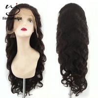 симпатичные черные парики оптовых-24inch #2 Цвет тела волна glueless человеческих волос полный парики шнурка для черных женщин хороший парик фронта шнурка волос Шаньдун фарфора