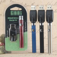 Precalentamiento EVOD Variable Voltage eCig Pre Heat Baterías 350mah para 510 Tank Glass E Cig Vaporizador Pen Cartuchos al por mayor