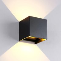Wholesale 1PC W W AC85 V Waterproof Wall light Up and Down wall light IP65 Ceiling Cube wall ligth for building decoration