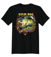 Wholesale Cheap Bass Fishing - Fish Big Tackle It Bass Fresh Water Fishinger Funny T-Shirt Tee T Shirt for Men Boy Short Sleeve Cool Tees Hot Cheap Men'S