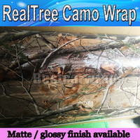 Wholesale Printed Stickers - RealTree Camo Vinyl Wrap Mossy oak Tree Leaf Camouflage Car Wrap TRUCK CAMO TREE PRINT DUCK graphics design size 1.52 x 30m Roll