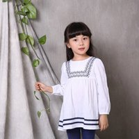 Wholesale Small Christmas Balls - (10 piece) 100% Cotton Girls Dress Small floral Round neck Puff Sleeve free shipping