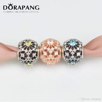 Compra Braccialetti D'argento Europei All'ingrosso-DORAPANG Rose Gold Charm Solid 925 Sterling Silver Beads Fit braccialetti braccialetti europei perline all'ingrosso della fabbrica MGJ006