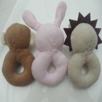Wholesale Toys Kangaroos - Wholesale- Baby boy girl toys Lovely ring rattle Mini Size Soft, plush animal dolls Koala,Elephants, rabbits, monkeys, kangaroos