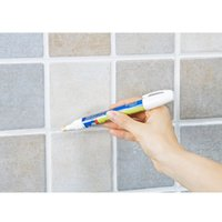 Wholesale Grout Tile Marker - Wholesale- 1Pcs Grout Aide Repair Tile Marker Wall Pen Bathroom Accessories