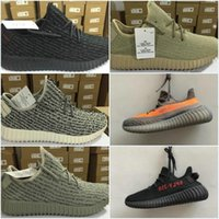 (avec Box) Sneakers Training 2016 New Kanye Milan West Boost 350 Moonrock Oxford Tan Pirate Black Turtle Dove Men Chaussures de sport
