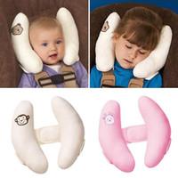 ingrosso u bambino del collo del cuscino-Nuovi regolabili per bambini Poggiatesta Seggiolino auto Testa Cuscino Cuscino per il collo Cuscini per dormire (colore: rosa / bianco)