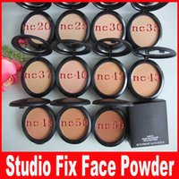 Wholesale plus size professional - NEW Professional Makeup Studio Fix POWDER PLUS FOUDATION 15g press make up face powder puffs Easy to Wear NC20-NC55