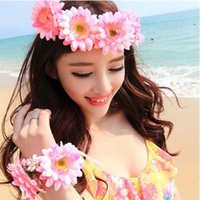 Wholesale Sunflower Wedding Decorations - DIY Artificial flower heads 8cm real touch daisy silk flowers chrysanthemum sunflowers flowers for Wedding patry decoration P.C115-1016