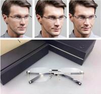 Wholesale France Business - Brand Glasses-Luxury Brand Man business Optical Glasses Rimless Myopia Eyeglasses Fashion Frames France Design Eyewear Oculos De Grau MB0349