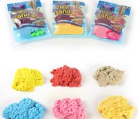 Wholesale Space Model Toys - DIY 100g bag with 1 Model Kinetic Color Clay Dynamic Sand Indoor Magic Play Sand Educational Children Mars Space Sand Toy Children Toys Gift