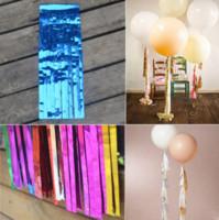 kağıt mendil çelenk toptan satış-Parlak Doku Kağıt Püskül Çelenk DIY Düğün Doğum Günleri Parti Dekorasyon Kağıt Çiçek Parti Olay Hediye Paketi Malzemeleri
