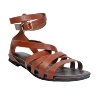 Wholesale Handcrafted Dress - Zandina Wholesale Hot Sale Womens Fashion Handcrafted Summer Beach Flat Sandals Simple Flats Shoes Brown XD133
