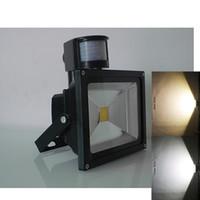 projecteurs de mouvement achat en gros de-Projecteurs d'éclairage extérieur à LED 10W 20W 30W 50W 5000lm PIR Capteur de mouvement Sécurité LED Lumière d'inondation IP65 12V