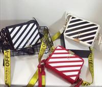 Wholesale Pu Strip - Women Strip small square bag Ladies Clip cross body bag Fashion shoulder bags Women flap leather purse