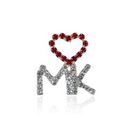 "Wholesale Unique Themes - Wholesale- Unique Theme Gift&Jewelry ""LOVE MK"" Letter Pins for Mary Kay Ladies"