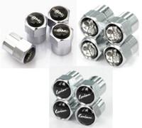 Wholesale Dust Caps For Cars - AMG Mini Metal Tire Valve Valves Tyre Dust Cap Caps MT Car Badge Emblem Badges for Audi