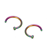 Wholesale 2PCS Stainless Steel Nose Open Hoop Body Piercing Studs Jewelry