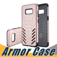 Wholesale Hybrid Cellphone Cases - Armor Slim Case TPU PC Hybrid Rugged Cellphone Cover For iPhone 8 7 6 6S Plus 5 5S SE Samsung S8 S8 Plus