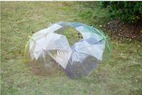 kinder sonnenschirm großhandel-Transparenter klarer EVC-Regenschirm-Tanz-lange Griff-Regenschirme-Strand-Hochzeits-bunter Regenschirm für Mann-Frauen-Kinder