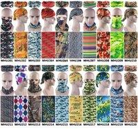 Wholesale uv headwear - Wholesale-Drop Shipping 10pcs lot Unisex Camouflage UV Protection Multifunction Outdoor Sport Magic Bandana Tube Headwear Warmer Bandana