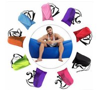 Wholesale Lounge Furniture Wholesale - Lounge Sleep Bag Lazy Inflatable Beanbag Sofa Chair, Living Room Bean Bag Cushion, Outdoor Self Inflated Beanbag Furniture 10PCS DHL free
