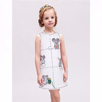 Wholesale Toddler Formal Cotton Dress - Toddler Girl Dress Kids Clothes Brand Girl Party Dress Robe Fille Enfant Letter Print Princess Dresses Vetement Fille