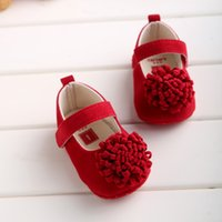 Wholesale Crib Shoes Flowers - Hongteya 4colors Flower Cotton Baby Shoes Moccasin Girls Newborn Dress Shoes Soft Bottom Infants Crib Sneakers Cute First Walker