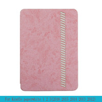 Wholesale Ebook Covers Case - High Grade leather TPU Silicone case cover Leather eReader Case For Kindle Paperwhite 1 2 3 eBook Case