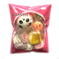 Wholesale Big Strap - 10pcs pack Squishies Slow Rising Squishy random sweetmeats ice cream cake bread Strawberry Bread Charm Phone Straps Soft Fruit Kids Toys
