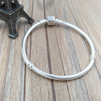 Wholesale Authentic Sterling Silver Stirling Silver Bracelet Fits European Pandora Style Jewelry Charms Beads HV