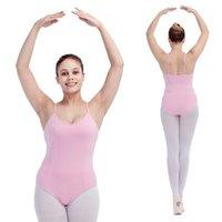 Wholesale Ladies Camisoles Colors - Cotton Lycra Single Straps Camisole Dance Leotard Princess Front Kids Girls Ballet Dancewear Ladies Bodysuit 16 Colors Available