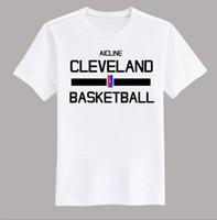 Wholesale Army Uniform T Shirts - Male Battery Funny Cotton Tops Tall Men O-Neck Short-Sleeve Trainingrt Wear Basketballer Cleveland Uniforms Loose T Shirt