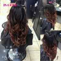 Wholesale u part wig ombre color for sale - Loose Wave Ombre U Part Wigs Human Hair Wigs Virgin Indian Remy Hair Glueless Human Hair U Shaped Wig