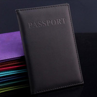 Wholesale Travel Passport Wallet Women - 8 Colors Women Men Passport Holder Immitation Leather Women Men Travel Passport Cover Card Case Holder
