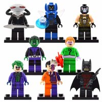 Wholesale Bane Toys - Building Blocks Super Heroes Bane Riddler Joker Batman Two Face Villians Beast Boy Blue Beetle Black Manta Children Toys minifigures action