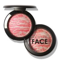 ingrosso arrostito al forno-All'ingrosso-Stile europeo e americano Tridimensionale Blush Makeup Baked Rouge Fard Blush Powder Palette Cosmetico LH7s