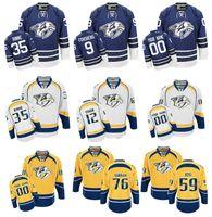 Wholesale K L - Hockey 76 P K SUBBAN Filip Forsberg Mike Fisher 18 James Neal 35 Pekka Rinne 59 Roman Josi Stitched Custom Nashville Predators Jerseys