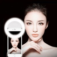 Wholesale mobile flash light - Manufacturer charging LED flash beauty fill selfie lamp outdoor selfie ring light rechargeable for all mobile phone
