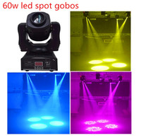 Wholesale Moving Light Gobos - Wholesale-New 60w gobos spot led moving head light 7 colors 7 differnt stage spots light good for ktv wedding