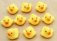 Wholesale Baby Bath Water Duck Toy Sounds Mini Yellow Rubber Ducks Kids Bath Small Duck Toy Children Swiming Beach Gifts WD035AA